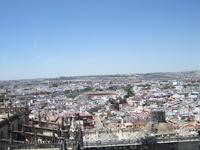 Севилья. Вид с Кафедральный собор (видна арена для боя быков)