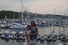 Хорватия. Марина рядом с отелем