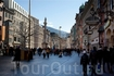 Аллея в центре города для прогулок