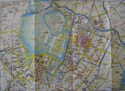 Карта центра Токио