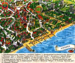 Карта Алушты