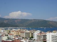Вид на город Мармарис с обзорной площадки