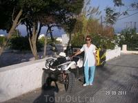Имеровигли. Самый популярный вид транспорта на Санторини (да и на Крите тоже)