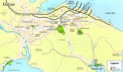 Карта Даляня с достопримечательностями