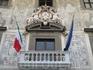 Пиза.Балкон дворца Кавальери с флагами.