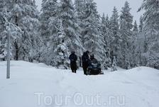 Маршруты для снегоходов обозначены специальными знаками