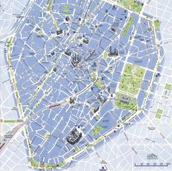 Карта Брюсселя с достопримечательностями