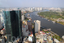 вид с обзорной площадки небоскреба Bitexco Financial Tower (Хошимин)