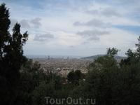 Барселона, вид из Парка Гуэль