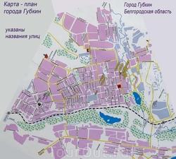 Карта Губкина