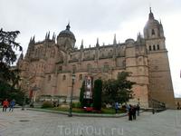 Противоположную сторону площади занимают Кафедральные соборы Саламанки, их два - старый и новый. Новый собор начали строить в 1512 году, когда стало очевидно ...