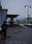 Люда на вокзале Миккели