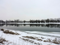 На другом берегу Днестра домов нет, так что гуляющие могут просто любоваться красивыми видами реки