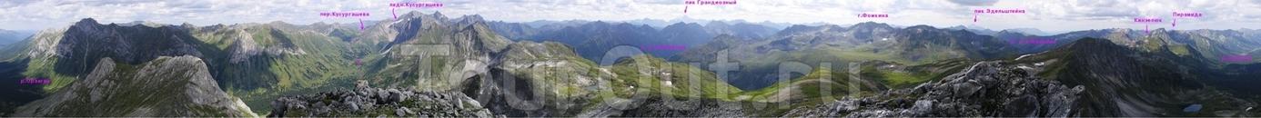 Долина реки Орзагай. Центральный Саян. Красота и величия горной системы Саян не перестает удивлять даже бывалых горных туристов. Впереди виднеется  хребет ...