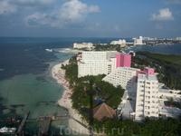 Вид на Канкун со смотровой башни