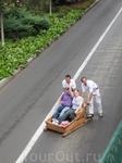 Спуск с Монте на плетеных корзинах. И смех, и слезы и увечья, иногда можно получить, если не вписаться в поворот или попасть под машину.