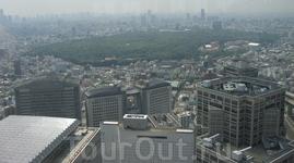 вид на Токио с колеса обозрения