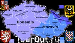 Моравия на карте Чехии