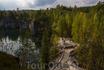 Это самый старый из Рускеальских карьеров. Его длина 450 м, ширина 60-100 м, глубина 30-50 м.Он затоплен до уровня верхнего подземного горизонта. Затопили ...