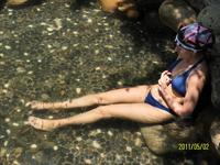 Массаж ног рыбками, причем бесплатно.  В аквапарке в Пекине мы за эту услугу платили отдельно. Термальные источники