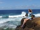 Заехали на крутой южный мыс острова, где бушуют океанские волны