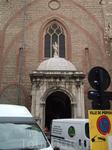Перпиньян.Вход в католический собор - самый большой однонефный собор