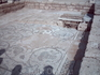 сохранившийся мозаичный пол древней синагоги