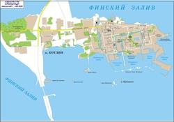 Карта города Кронштадт