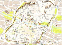 Туристическая карта Нюрнберга