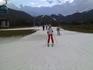 я впервые на лыжах)