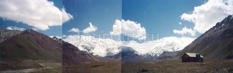 панорама пика ленина
