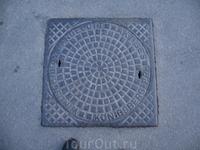 Старинный немецкий люк на подземных коммуникациях города.