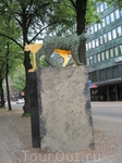Скульптура кошки на Липовом бульваре