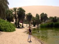 оазис Уакачина в пустыне