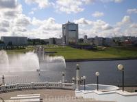 Чебоксарский залив. Дом Правительства Республики Чувашия (Президентский Дворец)