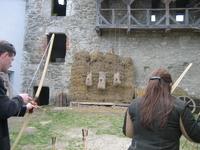 В замке можно проверить себя на меткость
