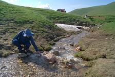 Вновь у приюта Нежный пополняем запасы воды