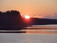 Коувола, закат над озером