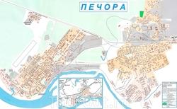 Карта Печоры