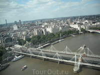 Вид сверху. London Eye.