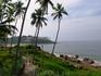 Самудра бич Вид с территории отеля на побережье