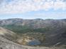 """Вид на долину, Ю.Чоргорр.  Если присмотреться можно увидеть """"человечка""""(он прямо над озером), """"бутылку"""" и """"8-ку""""))"""