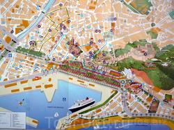 Карта Малаги для туристов