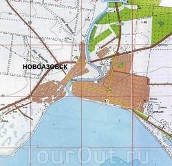 Карта Новоазовска