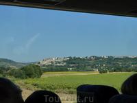 Пейзажи Тосканы из окна автобуса