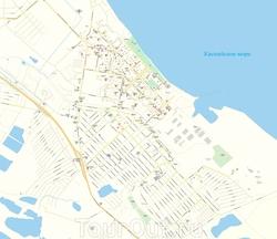 Карта Каспийска с улицами