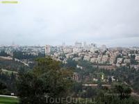 Вид на Иерусалим со смотровой площадки