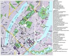 Карта Копенгагена с достопримечательностями