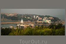 историческая часть города - вид со стороны парка Победы