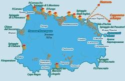 Карта Искьи на русском